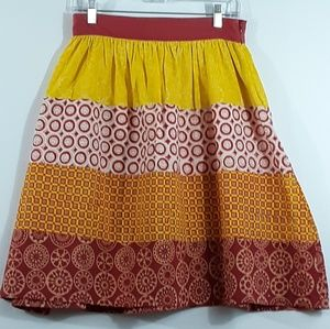 Modcloth Mata Traders Patchwork Full Skirt